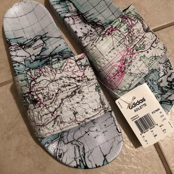 brand new 86420 b3213 MENS Eddie Huang x Adidas Originals Adilette Slide